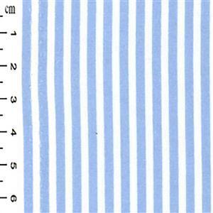 Pale Blue Thin Stripes on White Fabric 0.5m