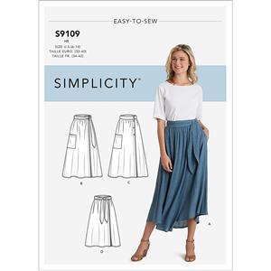Misses' Wrap Skirts Pattern 6-14. Save £2.00