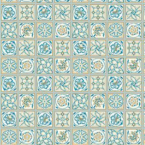 Liberty Emporium Collection Discovery Argyll Tile Multi Fabric 0.5m