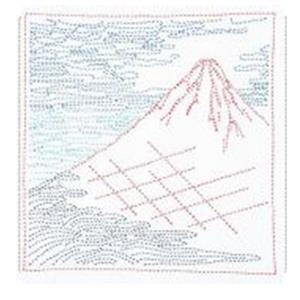 Hana-fukin Mount Fuji Ukiyoe Sashiko Kit