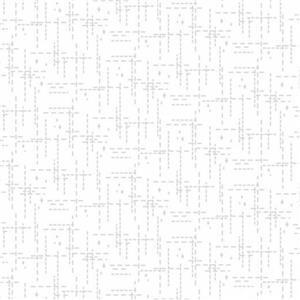 Stitched Effect White Fabric 0.5m