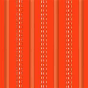 Zoo Around Modern Stripes On Orange Fabric 0.5m