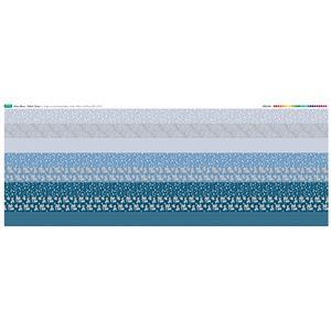 Misty Blue Fabric Strips Panel 140 x 57cm
