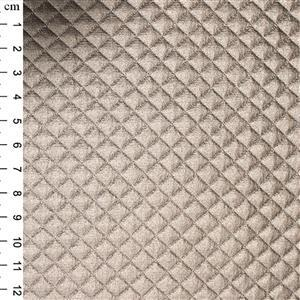 Champagne PU Quilted Fabric 0.5m