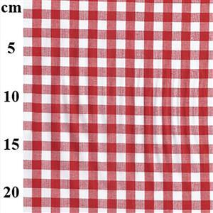 Yarn Dyed Cotton Gingham Red 0.5m