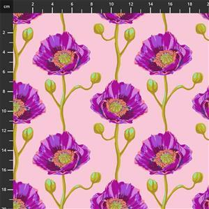Anna Maria Horner Bright Eyes in Cheering Section Blush Fabric 0.5m