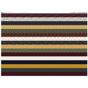 Autumn Days 16 Strips Fabric Panel 140x105cm