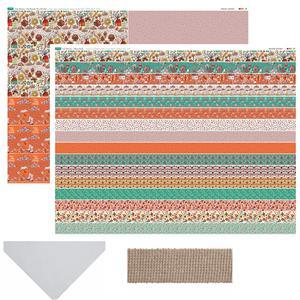 June Showers Tote Bag Bundle: Fabric Panels (2 panels), Webbing (2m) & Felt