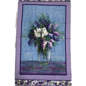 Michael Miller Dreaming Of Tuscany Blooming Vase Purple panel 0.61m