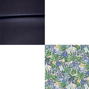 Leaf All Over Bag Making Fabric Bundle (1m)