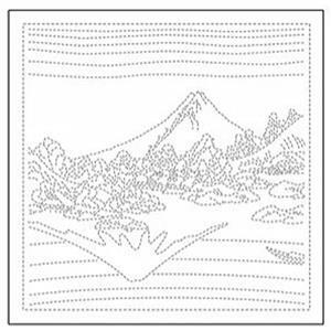 Hana-fukin Mount Fuji View White Fabric Pack