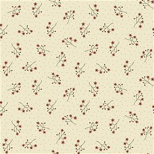 Anni Down On the 12th Starflower Spring Cream Fabric 0.5m