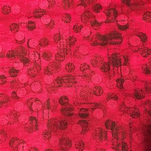 Dots Red Extra Wide Backing Fabric 0.5m (274cm Width)