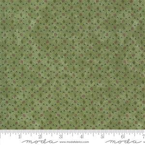 Moda Violet Hill Green Spotted Fabric 0.5m
