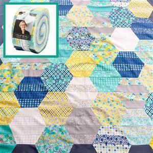 Moda Flowers for Freya Honeycomb Quilt Bundle: Design Roll & Fabric (2m). Get half a metre free.
