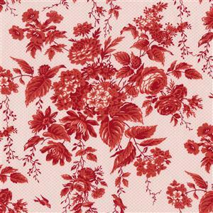 Moda Roselyn in Deep Red Rose Fabric 0.5m