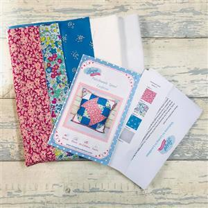 Living in Loveliness Patchwork Spool Liberty Cushion Kit - Option 1