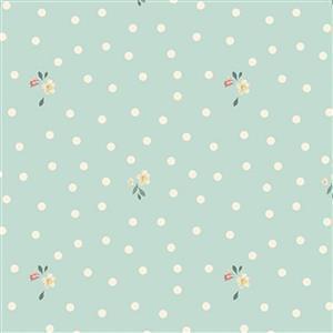 Riley Blake Rose Violets Spotty Songbird Fabric 0.5m