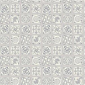 Liberty Emporium Collection Tudor Argyll Tile Grey Fabric 0.5m