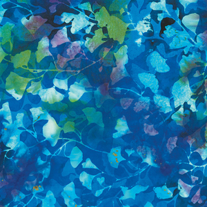 Candy Shoppe in Blue Autumn Leaves Fabric 0.5m