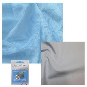 Baby Blue Crushed Velour, Powder Blue Cotton & Snap Bundle