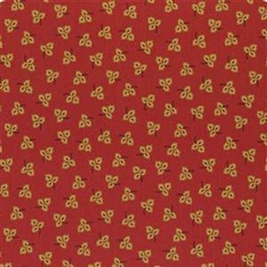 Henry Glass Esters Heirloom Shirtings Red Tossed Leaves Fabric 0.5m