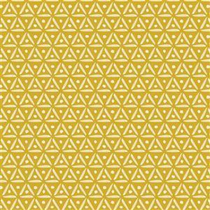 Riley Blake Faith, Hope and Love Coral Yellow Fabric 0.5m