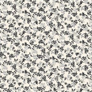 Autumn Leaves Black Fabric 0.5m