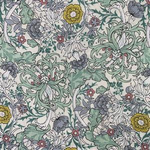 Country Floral Wild Side on Mint Green Fabric 0.5m Exclusive