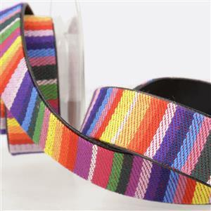 Faux Leather Webbing Multi-Colour 25mm (1m)