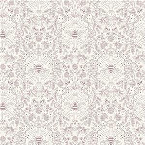 Lewis & Irene Queen Bee Outlines On Cream Fabric 0.5m