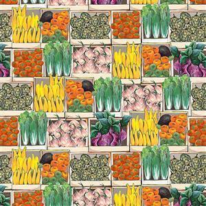 Blissful Bounty Veggie Cases Fabric 0.5m