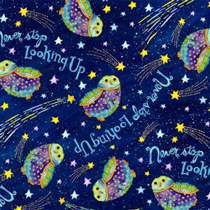 Stay Wild Moon Child in Looking Owls Fabric 0.5m