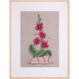 The Cross Stitch Guild Inspired by Orchids on Linen - Exclusive to Sewing Street