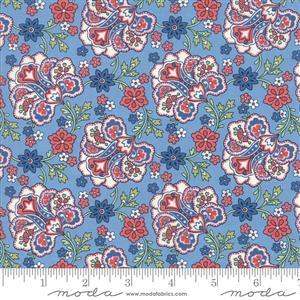 Moda Mackinac Island Blue Paisley Fabric 0.5m
