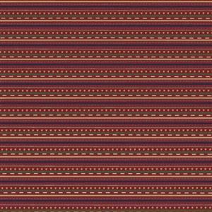 Lynette Anderson Peace & Joy Stripes Berry Fabric 0.5m