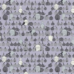 Riley Blake Spooky Hollow Dusk Graveyard Fabric 0.5m