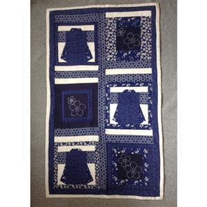 Sew with Beth Kimono & Sashiko Wall Hanging Kit: Blue & Ivory