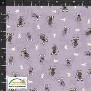 Find The Woods Mouse Grey Fabric 0.5m