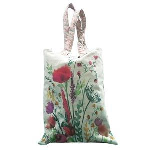 Bright Floral Tote Bag With Instructions Fabric Panel 140x94cm