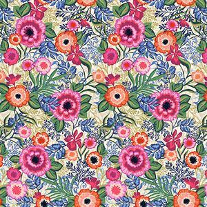 Marisol Large Floral Pink Fabric 0.5m
