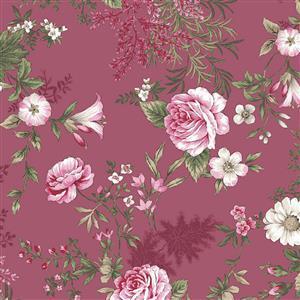 Juliet Roses Single Rose Pink Fabric 0.5m