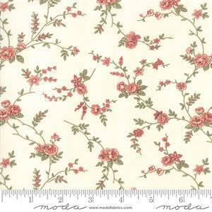 Moda 3 Sisters Memoirs Romantic Blooms Porcelain on Natural Fabric 0.5m