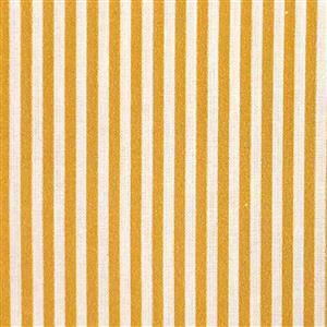 Candy Stripe Mustard Gold Fabric 0.5m