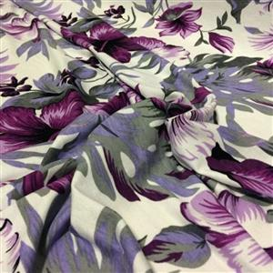 Lavender Lustre Floral Viscose Fabric 0.5m
