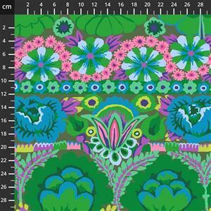 Kaffe Fassett Collective Green Floral Arrangement Fabric 0.5m