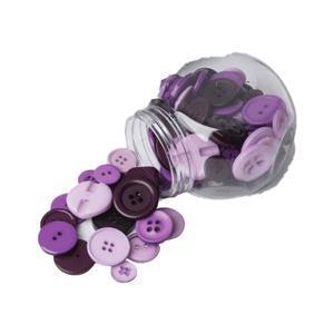 Button Jar Purple