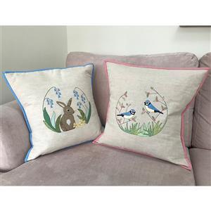 Victoria Carrington's Blue Tit Applique Cushion Kit: Instructions, Fabric (1m) & Panel