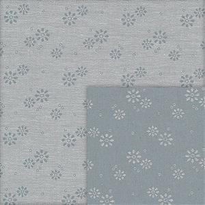 Stof Sevilla Jacquard Flowers Grey-Grey Fabric 0.5m
