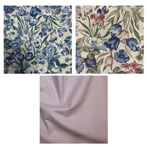 Country Floral Lilac Flowers Fabric Bundle (1.5m). Save £2.48